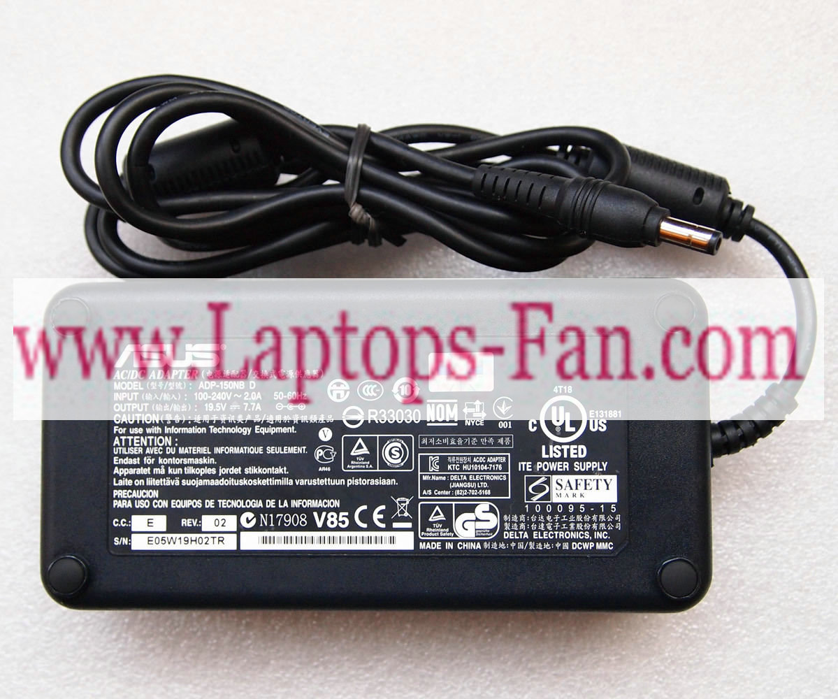 Original 19.5V 7.7A ASUS ADP-150NB D AC Power Adapter Charger