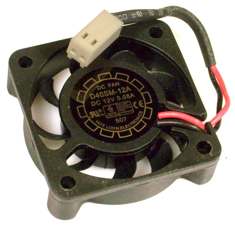 NEW Yate D40SM-12A Loon 40x10mm 2-Wire 12v DC 0.08a Fan
